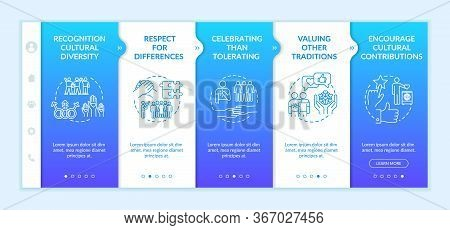 Multi National Empowerment Onboarding Vector Template. Cultural Diversity And Multi Ethnicity. Respo