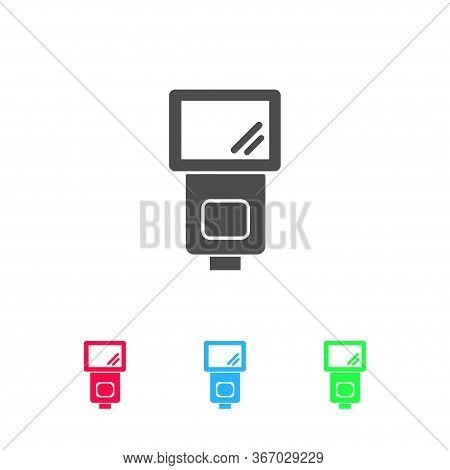 Flush Bulb Icon Flat. Color Pictogram On White Background. Vector Illustration Symbol And Bonus Icon
