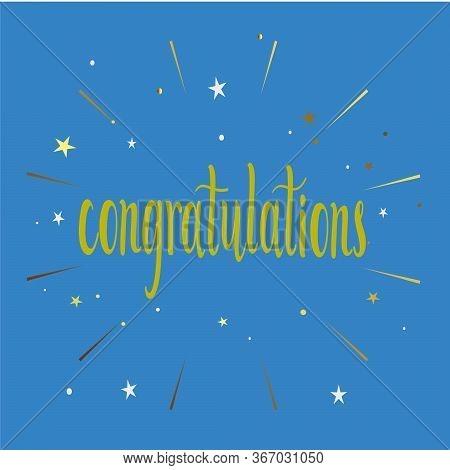Congratulations Event Celebration Letter Postcard Holiday Birthday