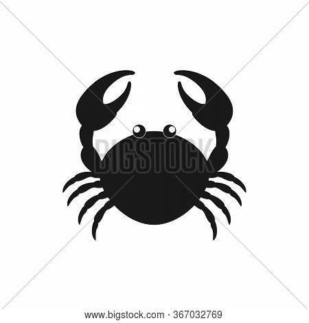 Crab Vector Icon. Crab Sign On White Background. Crab Icon For Web And App
