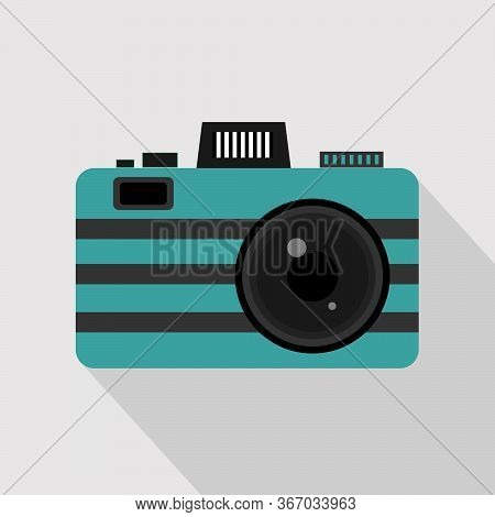 Capture Every Moment. Vintage Photo Camera Or Retro Camera, Vector Flat Illustration.