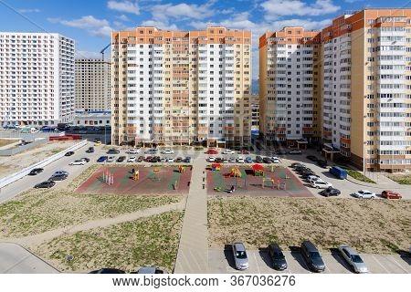Novorossiysk, Russia - March 16, 2020: New Housing Complex