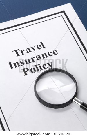 poster of Document of Travel Insurance Policy for background
