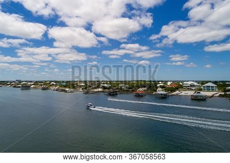 Aerial View Of Ono Island In Orange Beach, Alabama