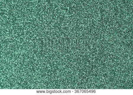 Green Texture Grain Background. Granular Asphalt Pattern Of Wall Or Flooring