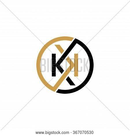Initial Letter Kk Logo Design Template Vector