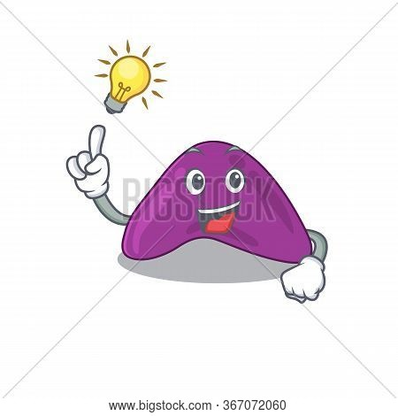 Mascot Character Of Smart Adrenal Has An Idea Gesture