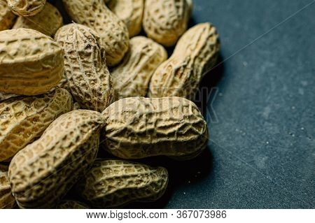 Peanuts In A Shell Texture  For Food Content.