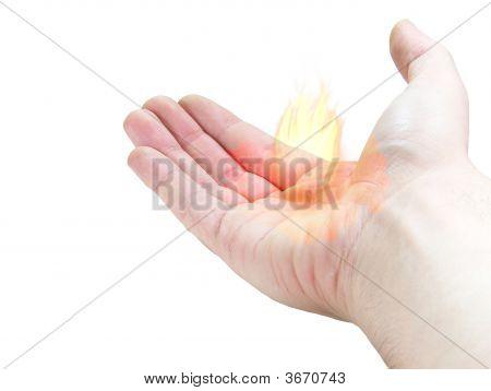 Hand Bringing Fire