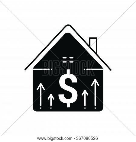 Black Solid Icon For Property-price Property Price  Accumulation Mortgage-price