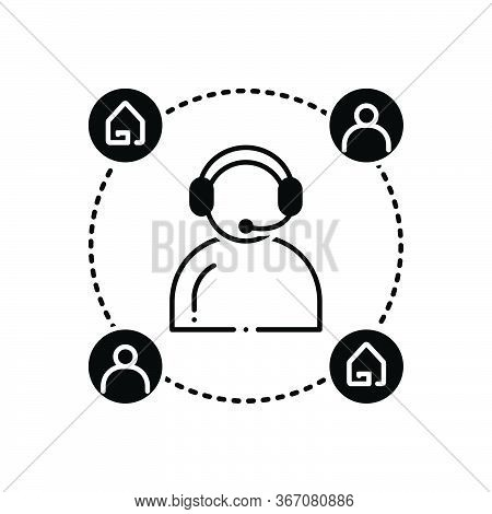 Black Solid Icon For Customer-support  Customer Support  Helpline Callcenter Property Real-estate