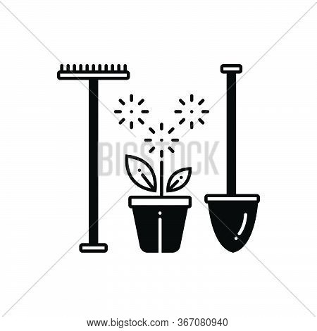 Black Solid Icon For Garden-scapes-services Garden Scapes Services Real-estate Home