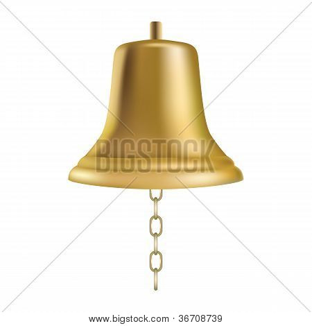 Golden Ship's Bell