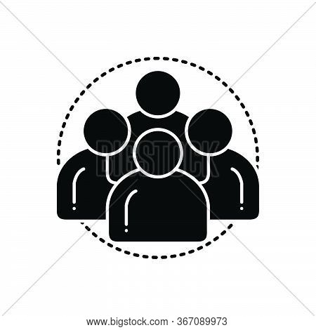 Black Solid Icon For Personas Man People Team Group Customize Personality