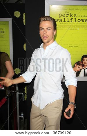 LOS ANGELES - SEP 10:  Derek Hough arrives at