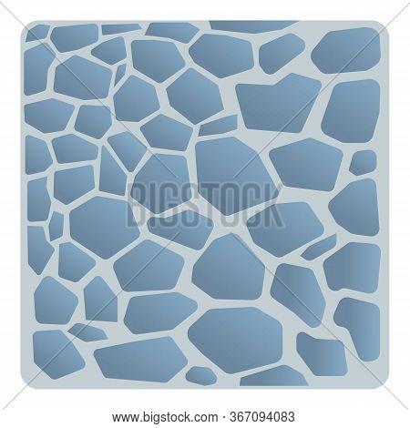Garden Stone Paving Icon. Cartoon Of Garden Stone Paving Vector Icon For Web Design Isolated On Whit