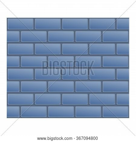Concrete Brick Paving Icon. Cartoon Of Concrete Brick Paving Vector Icon For Web Design Isolated On
