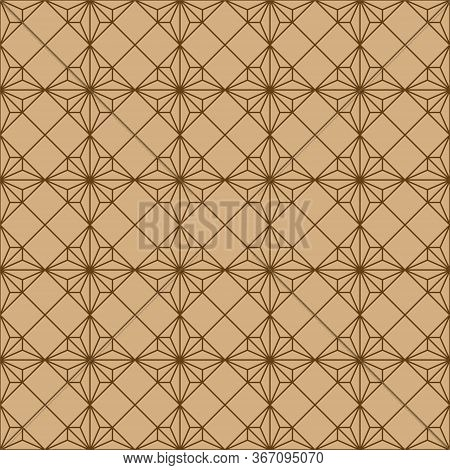 Seamless Traditional Geometric Japanese Woodwork Ornament.average Thickness.for Wrapping,fabric,text