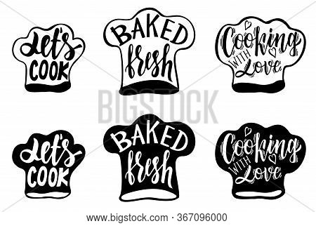 Vector Calligraphy. Cooking Related Typography. Quotes About Kitchen. Cooking Wordings. Culinary Let