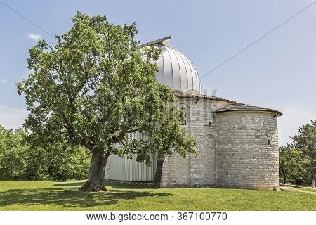 Side View Of The Famous Observatory, Tican - Visnjan, Istria, Croatia