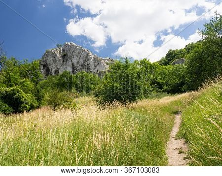 Landscape With Limestone Massif In Palava Protected Landscape Area, South Moravia, Czech Republic In