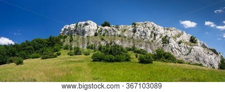 Panorama Landscape With Limestone Massif In Palava Protected Landscape Area, South Moravia, Czech Re