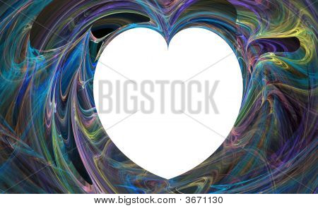 a Turquoise abstract flowing heart background image poster
