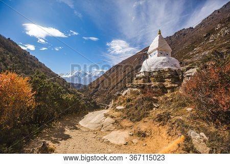 Buddhist Stupa Near Pangboche Village, Nepal