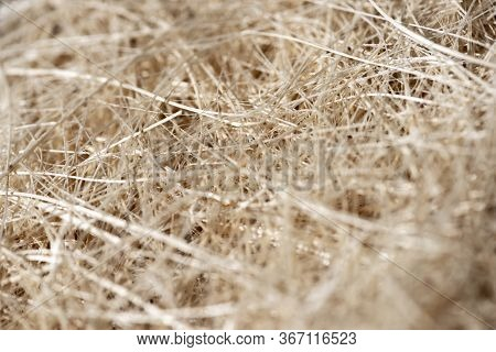 Natural Texture Of Straw. Craft Packaging. Coconut Coir
