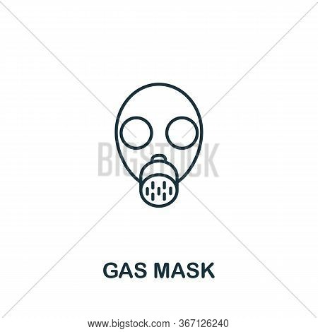 Gas Mask Icon From Work Safety Collection. Simple Line Element Gas Mask Symbol For Templates, Web De