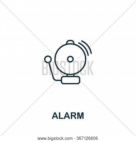 Alarm Icon From Work Safety Collection. Simple Line Element Alarm Symbol For Templates, Web Design A