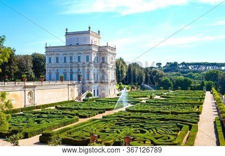 Rome, Italy - June 19, 2019: Villa Doria Pamphili, The Casino Del Bel Respiro Palace With The Secret