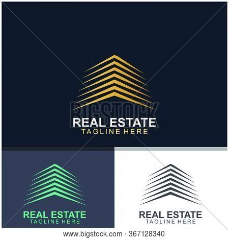Real Estate Logo Design.  Modern And Elegant Style Design