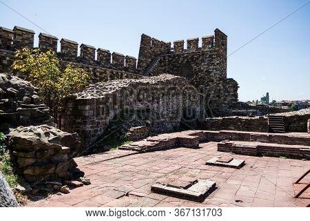 Veliko Tarnovo, Bulgaria - August 31, 2019: The Famous Sightseeing Tsarevets Fortress.