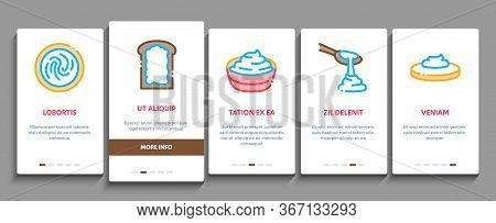 Mayonnaise Sauce Onboarding Mobile App Page Screen Vector. Mayonnaise Bottle And Preparing In Bowl W