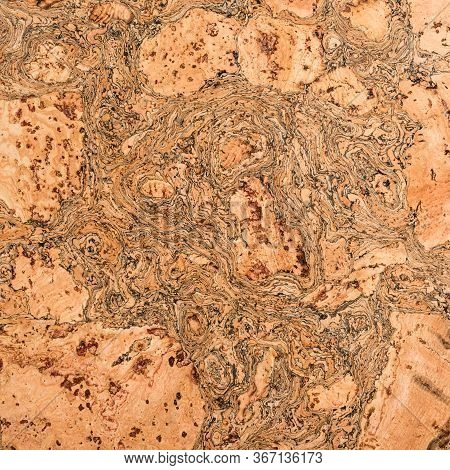 Cork Texture, Cork Board Or Notice Board. Texture Of Cork Wood Surface, Nature Product Industrial Ba