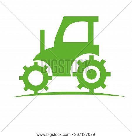 Tractor Vector Design. Tractor Illustration Design. Tractor Logo Or Icon.