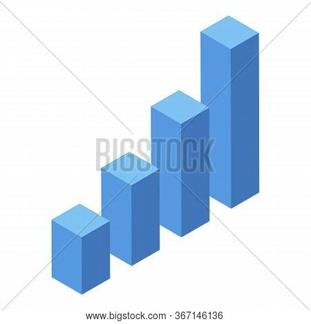 Marketing Evolution Graph Icon. Isometric Of Marketing Evolution Graph Vector Icon For Web Design Is