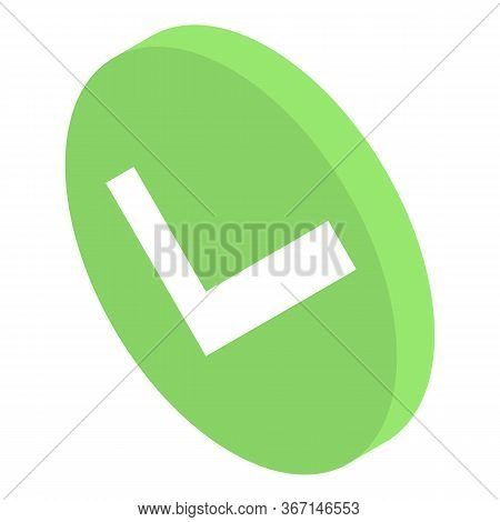 Done Sign Icon. Isometric Of Done Sign Vector Icon For Web Design Isolated On White Background
