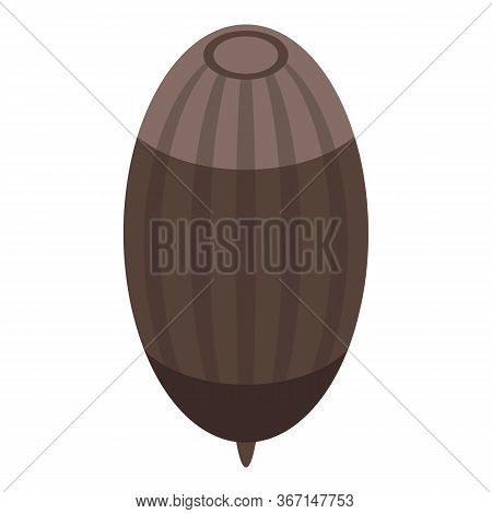 Brown Acorn Icon. Isometric Of Brown Acorn Vector Icon For Web Design Isolated On White Background