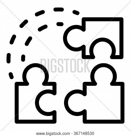 Sociology Puzzle Icon. Outline Sociology Puzzle Vector Icon For Web Design Isolated On White Backgro