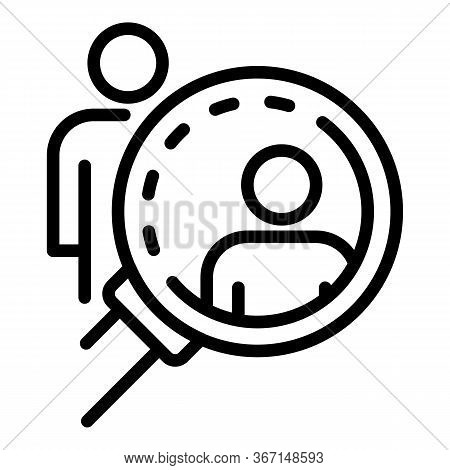 Search People Sociology Icon. Outline Search People Sociology Vector Icon For Web Design Isolated On