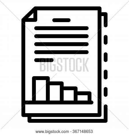Sociology Graph Paper Icon. Outline Sociology Graph Paper Vector Icon For Web Design Isolated On Whi