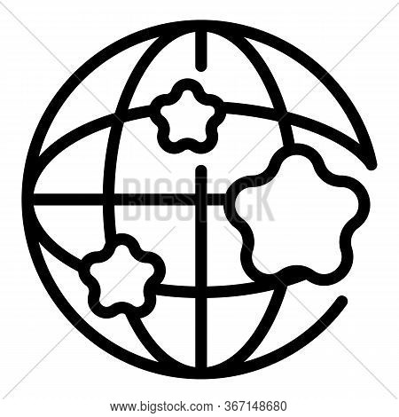 Global Sociology Icon. Outline Global Sociology Vector Icon For Web Design Isolated On White Backgro