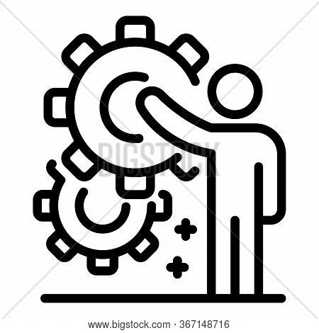 Sociology System Icon. Outline Sociology System Vector Icon For Web Design Isolated On White Backgro