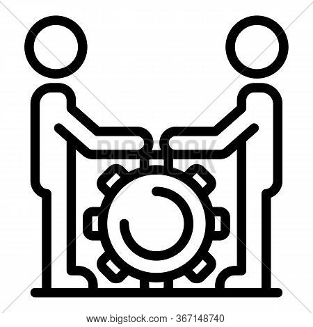 Sociology Teamwork Icon. Outline Sociology Teamwork Vector Icon For Web Design Isolated On White Bac