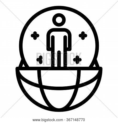 Global Relationship Icon. Outline Global Relationship Vector Icon For Web Design Isolated On White B