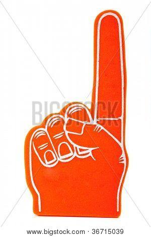 Orange foam spirit finger signifying