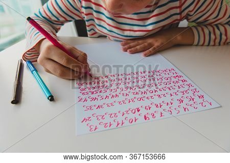 Kid Writing Numbers, Autism Or Asperger Syndrome, Mental Health Issues