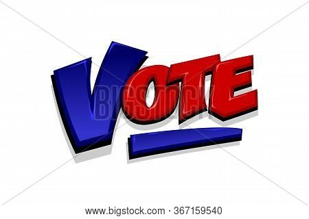 Vote, Positive Checkmark Election Icon. Ballot Campaign Tick Yes. Vote 2020 In Usa Presidential Elec